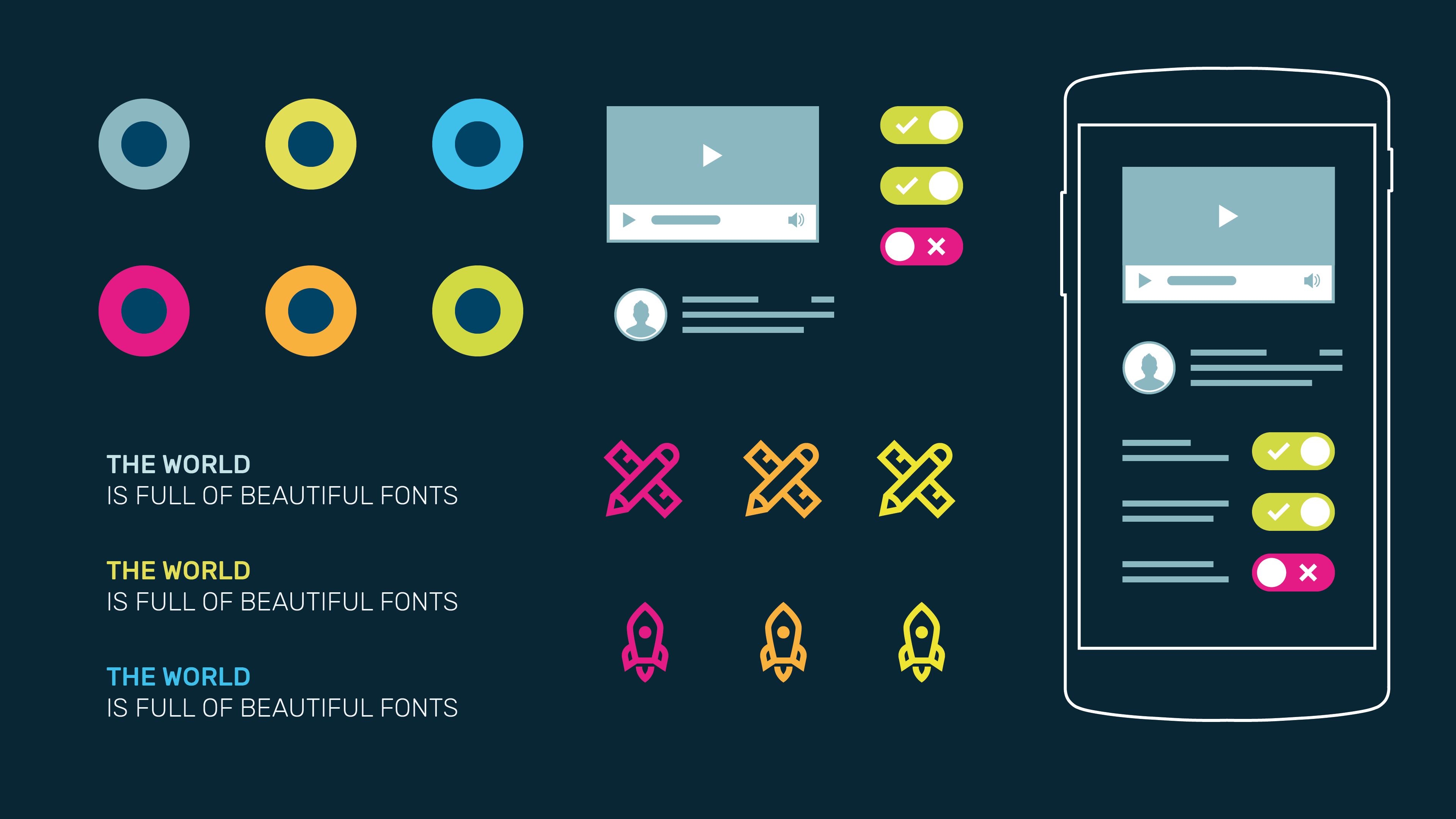 Infografik userinterfacedesign Moodboard