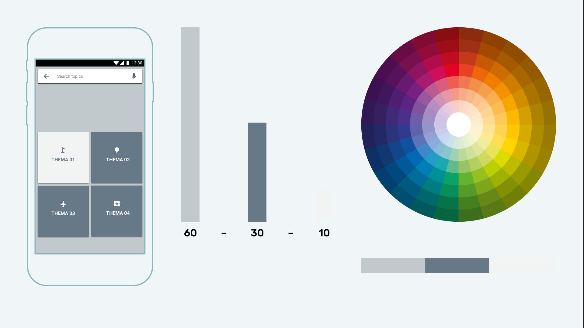 Infografik Userinterfacedesign Farbe Mengenkontrast 01 positiv